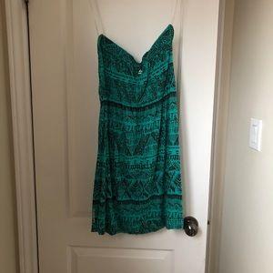 Billabong sweetheart neckline Aztec print dress